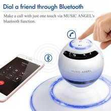Music Angel Levitating Speakers Portable Wireless Bluetooth Speaker 4.0 Super Bass Subwoofer Receiver NFC MP3 Woofer for iphone