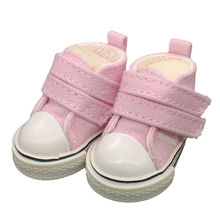 5pairs/lot New Arrival Canvas Shoes For BJD Doll, Mini Textile Doll Boots 1/6 Denim Sneakers Shoes for Tilda Doll,Free Shipping(China)