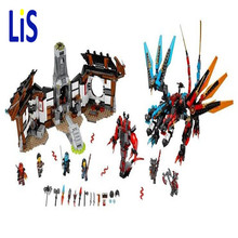 Lis 1173pcs Ninja New 10584 Dragon's Forge DIY Model Building Kit Blocks Gifts Toys Compatible with Lepin