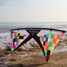 Rainbow Mosaic Vented Quad Line Stunt Kite Flying Professional 7.5ft Adults Outdoor Toy Sport Power Kite 4 Lines Beach Flying