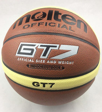 Basketball Official Molten Basketball Ball GT7 PVC Men Size 7 Indoor Outdoor Training Ballon Basketball Ball Free Net bag+ Pin