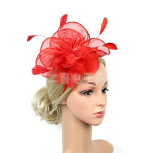 Colorful Organza Top Hat Headband Women Lady Girls Hairbands Bridal Banquet  Hair Accessory Wedding Party Dress ce327005467a