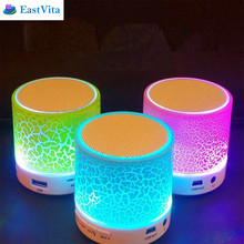 EastVita LED Portable Mini Bluetooth Speakers Wireless Hands Free Speaker With TF USB FM Blutooth for iPhone 6 7 Android ar48(China)