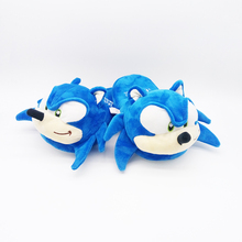 Sonic the Hedgehog soft Slipper Plush flannel mouse Shoes Cartoon Winter Indoor cotton Shoes aliens naruto harley model Toys(China)