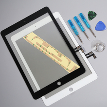 100% Tested High Quality New White Touch Screen Glass For iPad Air 1 For iPad 5 Replacement With Tool And Adhesive Free Shipping