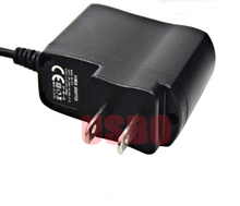 Wall Type Mobile DVD Charger DC Plug Tablet Charger Power Supply Adapter For Mobile DVD Portable 2 Pins 25*59*64mm Black 5V 1A