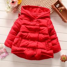 Children Kids Baby Jacket 2016 Autumn and Winter Girl Overcoat Baby Angel Wings Coat Cotton-Padded Clothes(China)