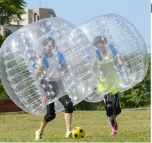 4pcs 1.5M PVC Inflatable Bubble Soccer Football Ball bubble ball with a free foot pump(China)