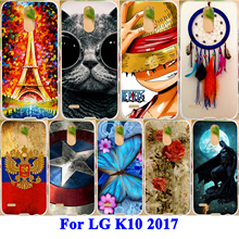 AKABEILA Phone Case For LG K10 2017 Case Plastic Hard Shell Soft TPU Cover Euro Version X400 M250 M250N Painted Phone Shell Skin(China)
