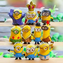 10pcs/set Minions decoration action figures  despicable me  Small cartoon hand-done toy