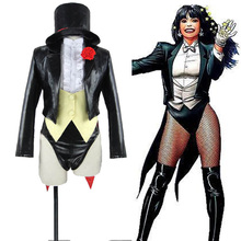 Justice League DC UNIVERSE Zatanna Cosplay Costume Halloween Carnival Costume Custom Made(China)