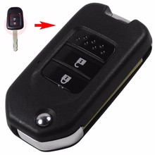 2 Buttons Folding Car-styling Key Flip Remote Key Shell Smart Key Case Cover For Honda CRV New Accord(China)