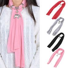 Vintage Women Lady Girl Elephant Soft Pretty Long Scarf Wrap Shawl Stole Scarves Black, Gray, Pink, Red