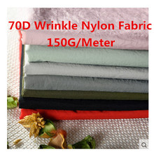70D Water Resistant Wrinkle Nylon Fabric High Density Light Warm Down Jacket fabric 150cm Width 2 Yard 150g/meter(China)