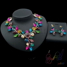 free shipping!! American crystal jewelry set/ imitation jewellery/ fake gold jewelry
