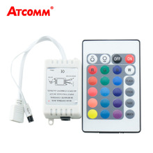 24 Key RGB LED IR Remote Controller DC12-24V With Mini Dimmer Box For SMD 5050 2835 RGB LED Strip Light