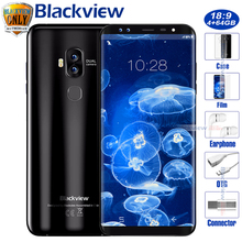 Blackview S8 Four Cameras 5.7 Inch 18:9 HD+Display Smartphone 4G RAM 64G ROM MT6750T Octa Core Fingerprint OTG 4G Mobile Phone(China)