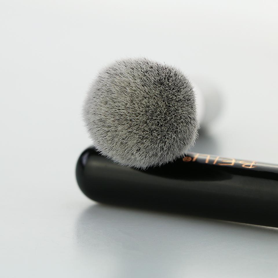 BEILI 1Pc Kabuki Soft Dense Grey Synthetic Hair Powder Foundation Blusher Contour Makeup Brushes 11