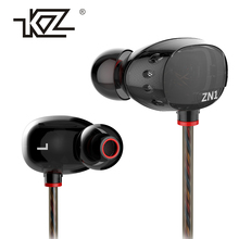 Earphone KZ ZN1 Dul Drivers Super Bass In Ear Music Earphones With Mic dj HIFI Stereo fone de ouvido Headset Noise Isolating