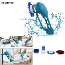 Household Cleaning Tool Electric Scrubber Kitchen Washing Cleaner Machine Oil Stain Cleaning Brush Handheld(China)