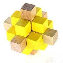 9 Sticks Large Pineapple Balls Wooden Cube/Educational Toy Wooden Puzzle Set,Kong Ming/Luban Lock for Adult Children(China)