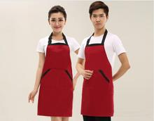 Waiter Chef Cooking Kitchen Catering Halterneck Apron Bib With Pocket Avental One Size in Medium Fashion Hot Sale Delantal New