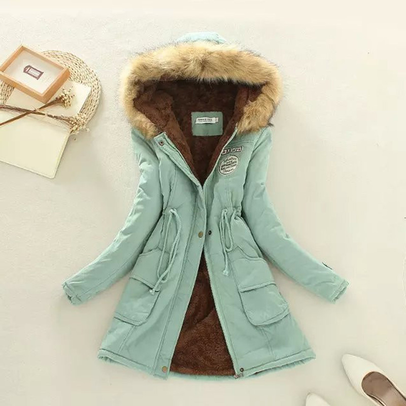 Womens Thickening Long Military Parkas Winter Jacket Women Fur Coats Woman Clothes Warm Hooded Outwear Black Overcoat XXXLОдежда и ак�е��уары<br><br><br>Aliexpress