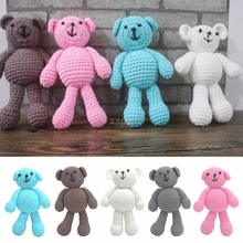 2017 Cute Newborn Baby Girls Boys Photography Prop Photo Crochet Knit Toy Cute Little Bear MAY17_35(China)