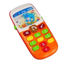 1pc Electronic Musical Toy Phone Mini Cute Kids Mobile Phone Cellphone Telephone Educational Toys Musical Instrument for Baby(China)