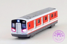 1 PC 17.5cm Tia Alloy model car toys/train/line 8 sound urban subway high-speed express train children gifts