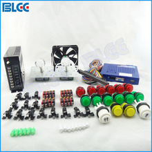 Multi Arcade Games Kit with 412 in 1 Game Board Arcade Joystick Push Button Micro Switch Cooling Fan and Power Supply(China)