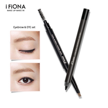 China professional brand make up eye sets cosmetics, brown or grey eyebrow pencil and black eyeliner 2 star women cosmetics kit(China)