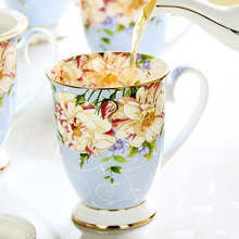 Fashion Creative Ceramic Cup European Mark Cup with Cover Large Capacity Bone China Coffee Mug Breakfast Milk Cup
