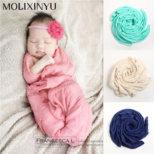 Cute ! 2017 New Soft Newborn Baby Photography Props Sleeping Baby Swaddle Baby Blanket Crochet Outfits For Baby Infant Wrap(China)
