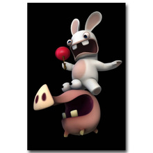 Buy Rayman Raving Rabbids Art Silk Fabric Poster Print 13x20 24x36 inch Hot Game Picture Living Room Wall Decoration 004 for $4.91 in AliExpress store