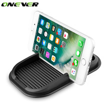 Onever Universal Car Silicon Anti Slip Pad Phone Holder Stand Non-slip Dashboard Mat Phone Shelf Anti-slip Mat For GPS MP3 Phone