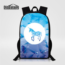 Dispalang Cute Unicorn Prints Children School Backpack Ladies Daypack Women Travel Bags Back Pack Rucksack Kids Mochila Escolar