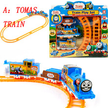 Baby toys Special offer kids toys electric Thomas rail car children train track model slot toy simple orbit car gifts(China)