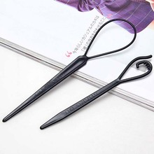 2pcs/set Plastic Magic Topsy Tail Hair Braid Ponytail Styling Maker Clip Tool Black #5570