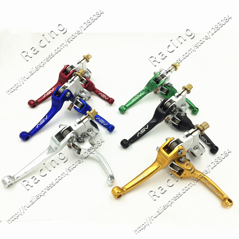 Alloy ASV F3 Series Short Clutch Brake Folding Lever Fit To Dirt Bike Pit bike Motorcycle MX Spare Parts Free Shipping Silver<br><br>Aliexpress