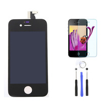 white black lcd display touch screen digitizer glass replacement parts for Mobile phone+tempered glass+free tools