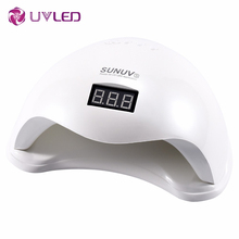 SUNUV SUN5 48W uv led  lamp nail dryer Gel Polish curing Machine with bottom Low/heat model