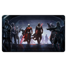Star Wars Black And White Knight Oh Duel Monster Playmat Board Games Yu-Gi-Oh Cards Custom Big Mousepad with Playmat Storage Bag(China)