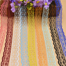 10 Yards Lace Ribbon Tape 22MM Wide White Lace Trim Fabric DIY Embroidered Net lace trimmings for sewing accessories Decoration(China)