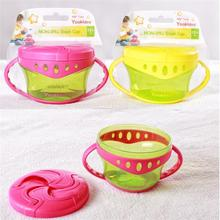 Baby Non-Spill Snack Cup Soft plastic portable Snack storage container useful design especially for baby boite pour bebes(China)