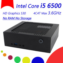 Barebone System Mini Desktop Computer With Intel Core i5 6500, HD Graphics 530, No RAM No Storage, Size168*154*54(mm), 300M WIFI