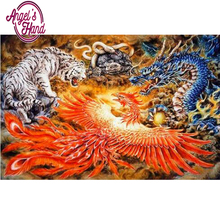 ANGEL'S HAND Pictures DIY Diamond Painting Cross Snake dragon tiger Stitch Needlework Diamond Mosaic Diamond Embroidery(China)