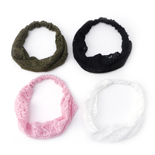 BELLYQUEENElegant Women Bandanas Lace Headwrap Elastic Hairband Girls' Hair Accessory(China)
