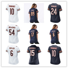 Women's Mitchell Trubisky Brian Urlacher Mike Ditka Howard Kyle Long Matt Forte Alshon Jeffery Jay Cutler Custom Bears Jerseys(China)