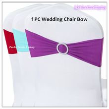 Big Promotion 1PC Fancy Elastic Chair Bow Lycra Chair Sash Spandex Chair Band with Round Buckle for Wedding Decor Event Supplier